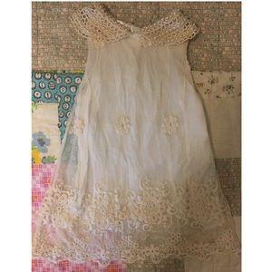 Lace Pearl Peter Pan Collar Dress